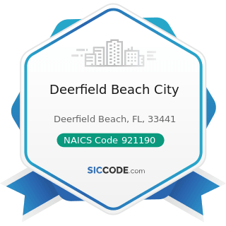Deerfield Beach City - NAICS Code 921190 - Other General Government Support