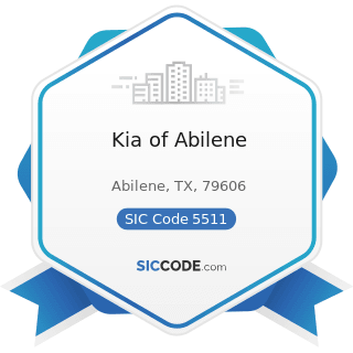 Kia of Abilene - SIC Code 5511 - Motor Vehicle Dealers (New and Used)