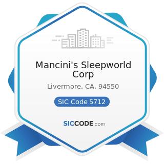Mancini's Sleepworld Corp - SIC Code 5712 - Furniture Stores