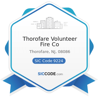 Thorofare Volunteer Fire Co - SIC Code 9224 - Fire Protection
