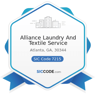 Alliance Laundry And Textile Service - SIC Code 7215 - Coin-Operated Laundries and Drycleaning