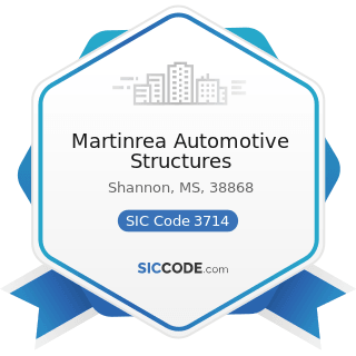 Martinrea Automotive Structures - SIC Code 3714 - Motor Vehicle Parts and Accessories