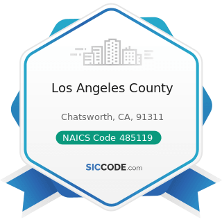 Los Angeles County - NAICS Code 485119 - Other Urban Transit Systems