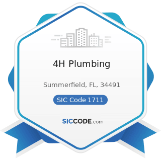 4H Plumbing - SIC Code 1711 - Plumbing, Heating and Air-Conditioning