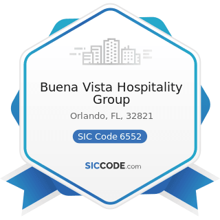 Buena Vista Hospitality Group - SIC Code 6552 - Land Subdividers and Developers, except...