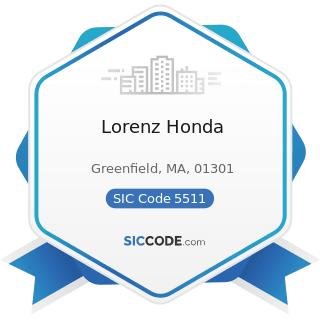 Lorenz Honda - SIC Code 5511 - Motor Vehicle Dealers (New and Used)