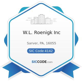 W.L. Roenigk Inc - SIC Code 4142 - Bus Charter Service, except Local