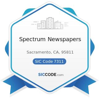 Spectrum Newspapers - SIC Code 7311 - Advertising Agencies