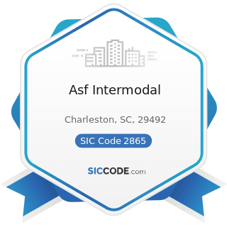 Asf Intermodal - SIC Code 2865 - Cyclic Organic Crudes and Intermediates, and Organic Dyes and...