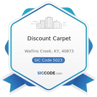 Discount Carpet - SIC Code 5023 - Home Furnishings