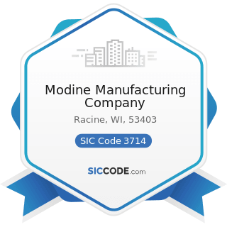 Modine Manufacturing Company - SIC Code 3714 - Motor Vehicle Parts and Accessories