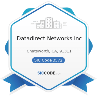 Datadirect Networks Inc - SIC Code 3572 - Computer Storage Devices