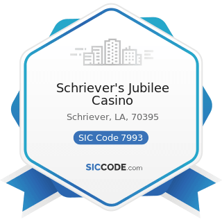 Schriever's Jubilee Casino - SIC Code 7993 - Coin-Operated Amusement Devices