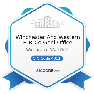 Winchester And Western R R Co Genl Office - SIC Code 4011 - Railroads, Line-Haul Operating