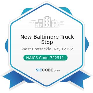 New Baltimore Truck Stop - NAICS Code 722511 - Full-Service Restaurants