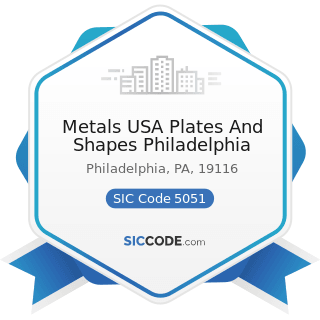 Metals USA Plates And Shapes Philadelphia - SIC Code 5051 - Metals Service Centers and Offices