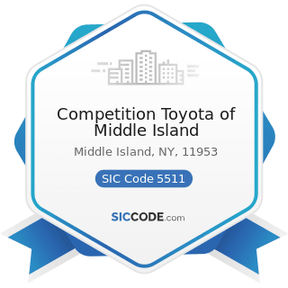 Competition Toyota of Middle Island - SIC Code 5511 - Motor Vehicle Dealers (New and Used)