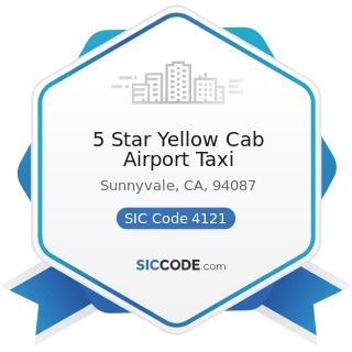 5 Star Yellow Cab Airport Taxi - SIC Code 4121 - Taxicabs