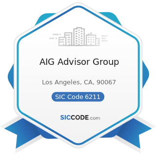 AIG Advisor Group - SIC Code 6211 - Security Brokers, Dealers, and Flotation Companies