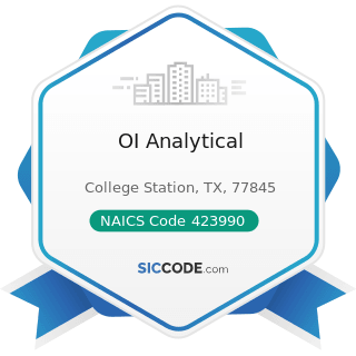 OI Analytical - NAICS Code 423990 - Other Miscellaneous Durable Goods Merchant Wholesalers