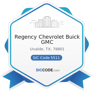 Regency Chevrolet Buick GMC - SIC Code 5511 - Motor Vehicle Dealers (New and Used)