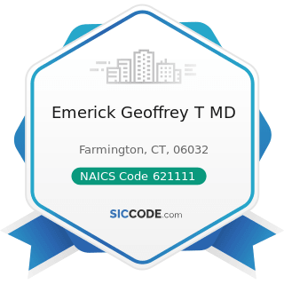 Emerick Geoffrey T MD - NAICS Code 621111 - Offices of Physicians (except Mental Health...