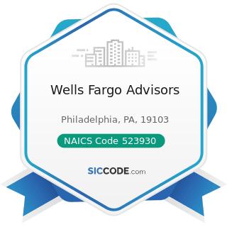 Wells Fargo Advisors - NAICS Code 523930 - Investment Advice