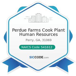 Perdue Farms Cook Plant Human Resources - NAICS Code 541612 - Human Resources Consulting Services