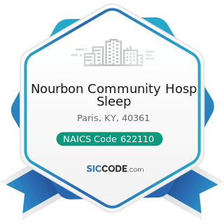 Nourbon Community Hosp Sleep - NAICS Code 622110 - General Medical and Surgical Hospitals