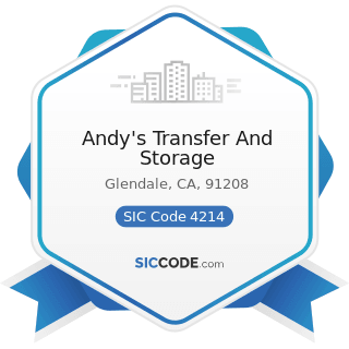 Andy's Transfer And Storage - SIC Code 4214 - Local Trucking with Storage