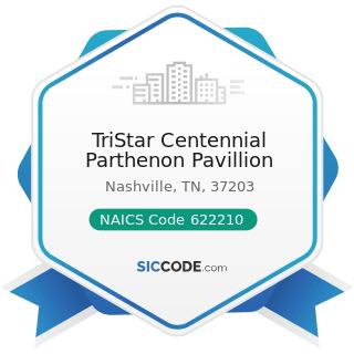 TriStar Centennial Parthenon Pavillion - NAICS Code 622210 - Psychiatric and Substance Abuse...