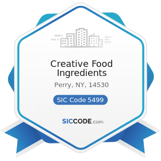 Creative Food Ingredients - SIC Code 5499 - Miscellaneous Food Stores