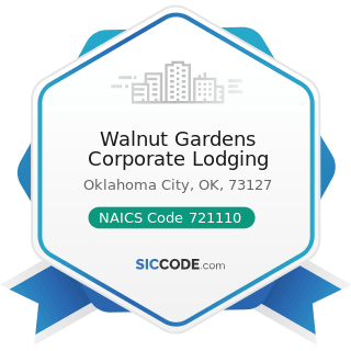 Walnut Gardens Corporate Lodging - NAICS Code 721110 - Hotels (except Casino Hotels) and Motels