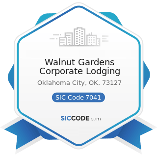 Walnut Gardens Corporate Lodging - SIC Code 7041 - Organization Hotels and Lodging Houses, on...