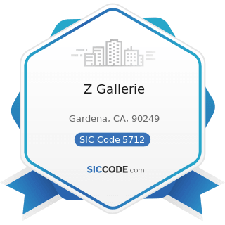 Z Gallerie - SIC Code 5712 - Furniture Stores
