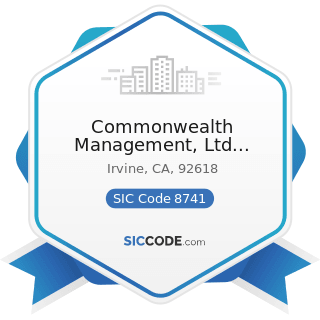 Commonwealth Management, Ltd Liability Co - SIC Code 8741 - Management Services