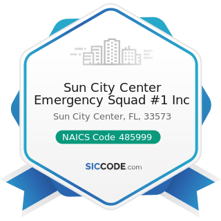 Sun City Center Emergency Squad #1 Inc - NAICS Code 485999 - All Other Transit and Ground...