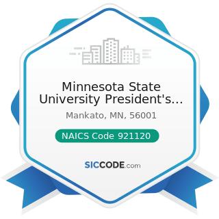 Minnesota State University President's Office - NAICS Code 921120 - Legislative Bodies