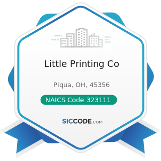 Little Printing Co - NAICS Code 323111 - Commercial Printing (except Screen and Books)