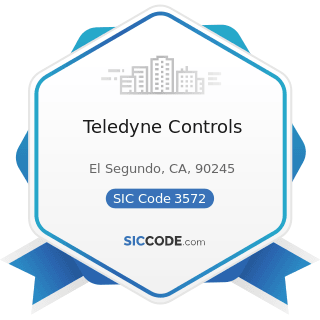 Teledyne Controls - SIC Code 3572 - Computer Storage Devices