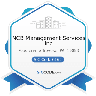 NCB Management Services Inc - SIC Code 6162 - Mortgage Bankers and Loan Correspondents