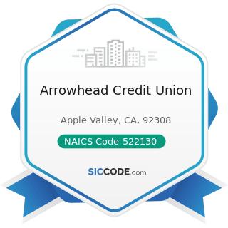 Arrowhead Credit Union - NAICS Code 522130 - Credit Unions