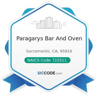Paragarys Bar And Oven - NAICS Code 722511 - Full-Service Restaurants