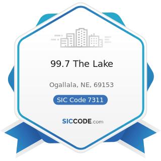 99.7 The Lake - SIC Code 7311 - Advertising Agencies