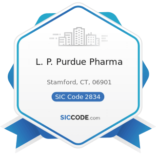 L. P. Purdue Pharma - SIC Code 2834 - Pharmaceutical Preparations