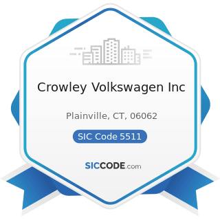Crowley Volkswagen Inc - SIC Code 5511 - Motor Vehicle Dealers (New and Used)