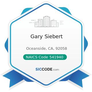 Gary Siebert - NAICS Code 541940 - Veterinary Services