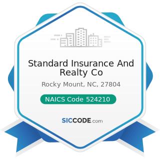Standard Insurance And Realty Co - NAICS Code 524210 - Insurance Agencies and Brokerages