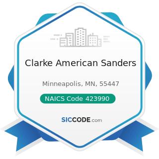 Clarke American Sanders - NAICS Code 423990 - Other Miscellaneous Durable Goods Merchant...