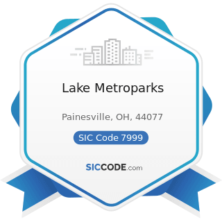 Lake Metroparks - SIC Code 7999 - Amusement and Recreation Services, Not Elsewhere Classified